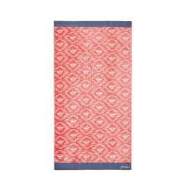 image-Joules Bee Geo Beach Towel, Coral