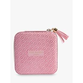 image-Ted Baker Dusky Pink Zipped Jewellery Case