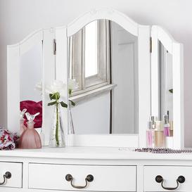 image-Lemaire Arched Dressing Table Mirror Fleur De Lis Living Colour: Antique White