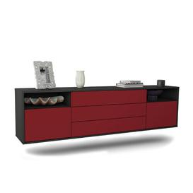 """image-Graf TV Stand for TVs up to 78\"""" Ebern Designs Colour: Black/Red"""
