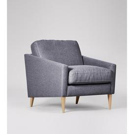 image-Swoon Verano Armchair in Anthracite Smart Wool With Light Feet