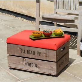image-Edmonson Footstool Sol 72 Outdoor Colour: Red