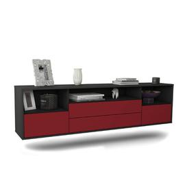"""image-Gowen TV Stand for TVs up to 78"""" Ebern Designs Colour: Black/Red"""
