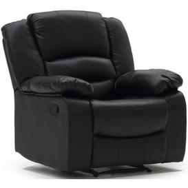 image-Vida Living Barletto Black Faux Leather Recliner Chair