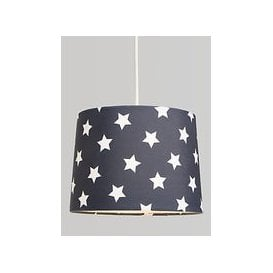 image-little home at John Lewis Star Lampshade, Navy