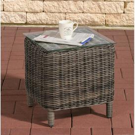 image-Redmayne Aluminium and Rattan Side Table Sol 72 Outdoor Colour: Grey
