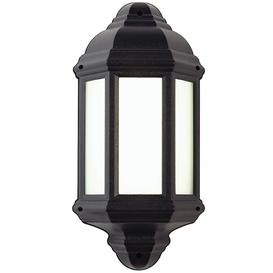 image-Endon EL-40116 Black IP44 Outdoor LED Flush Wall Light
