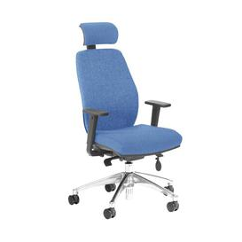 image-Budd Ergonomic Desk Chair Ebern Designs Frame Colour: Black/Chrome, Upholstery Colour: Dark Blue