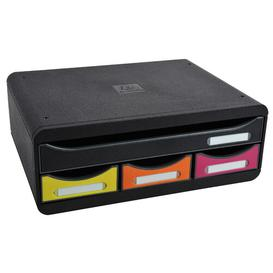 image-Mcclelland Desk Organiser Symple Stuff Colour: Black/Yellow/Orange