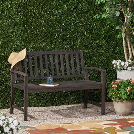 image-Virgie Teak Bench Sol 72 Outdoor