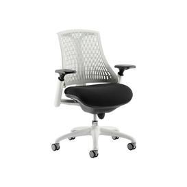 image-High-Back Mesh Desk Chair Symple Stuff Frame Finish: White
