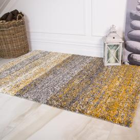 image-Striped Mottled Thick Shaggy Living Room Rugs - Choose Your Colour
