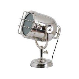 image-Hill Nickel Industrial Spotlight Table Lamp