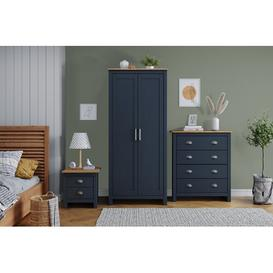 image-Liddle 3 Piece Bedroom Set Brambly Cottage Colour: Blue