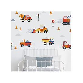 image-little home at John Lewis Construction Wall Stickers, Multi