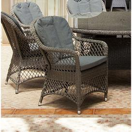 image-Alexander Rose Monte Carlo Open Weave Dining Chair (Pair)