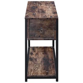 image-Narrow 2 Tier Side Table With Storage
