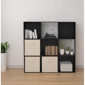 image-9 Cube Wooden Bookcase Symple Stuff Colour: Black