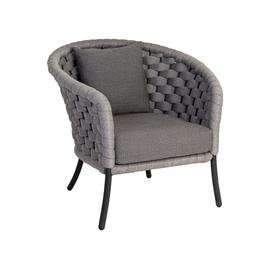 image-Alexander Rose Garden Furniture Cordial Luxe Light Grey Lounge Chair With Cushion