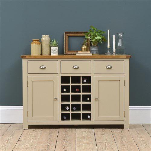 image-Lundy Stone Sideboard with Wine Rack