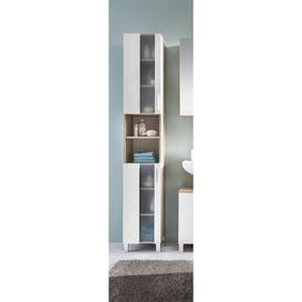 image-Kaweka 33cm x 191cm Free Standing Tall Bathroom Cabinet Ebern Designs