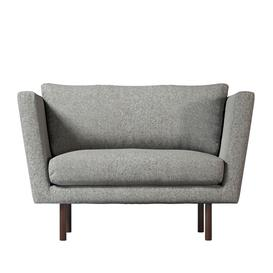 image-Swoon Mytilini Love Seat in Anthracite Smart Wool With Dark Feet