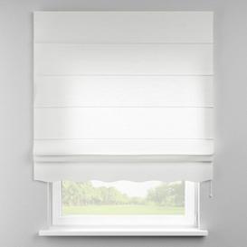 image-Loneta Semi-Sheer Roman Blind Dekoria Size: 100cm W x 170cm L, Finish: White