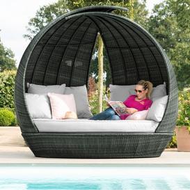 image-Maze Rattan Garden Furniture Grey Lotus Daybed - PRE ORDER