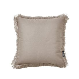image-Cotton Cushion Cover Done Colour: Taupe, Size: 45 x 45cm
