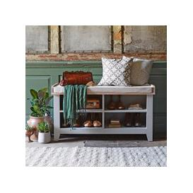 image-Chester Dove Grey Open Shoe Storage Bench