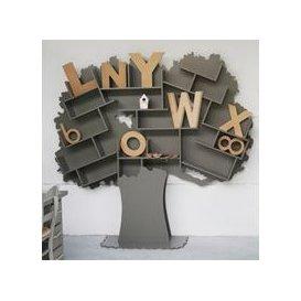 image-Mathy by Bols Tess Tree Bookcase - Mathy Coral