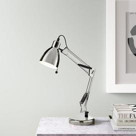 image-Eriksen 50cm Desk Lamp Hykkon Finish: Chrome