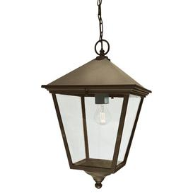 image-Hugh 1 Light Outdoor Hanging Lantern Ophelia & Co. Finish: Black/Gold, Size: Grande