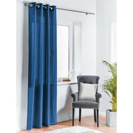 image-Denholme Eyelet Room Darkening Single Curtain Mercury Row Colour: Blue