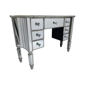 image-Mirrored Dressing Table with 7 Drawers
