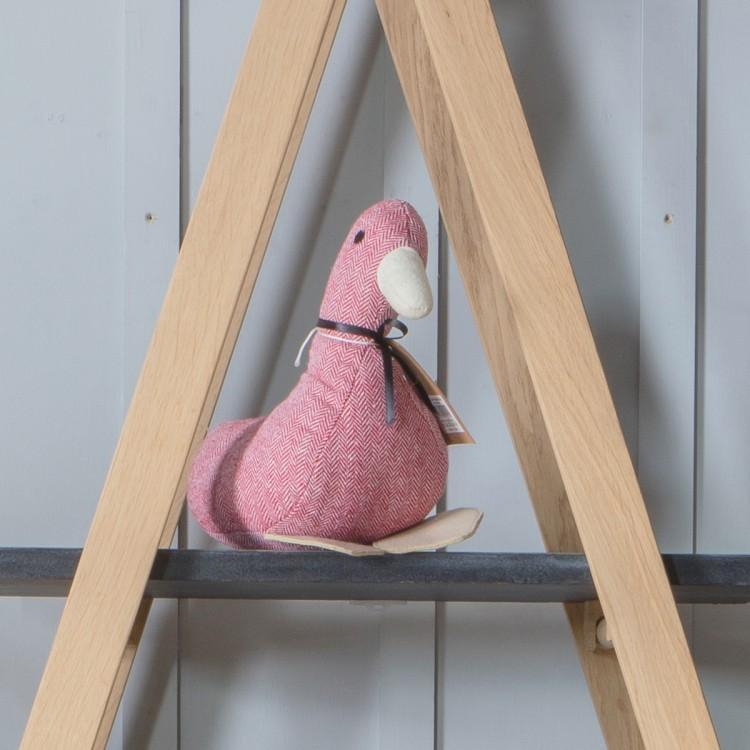 image-Duck Herringbone Red Doorstop
