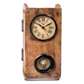 image-Upcycled Collection Brick Mould Clock with Pendulum