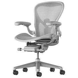 image-Herman Miller Aeron Office Chair, Mineral