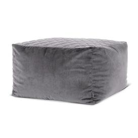 image-Glenys Pouffe Brayden Studio Upholstery Colour: Charcoal Grey