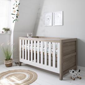 image-Modena 3-in-1 Cot Bed Tutti Bambini Colour: White/Oak
