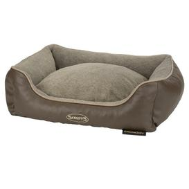image-Chateau Bolster Cushion with Orthopaedic Memory Foam Scruffs Size: 17cm H x 60cm W x 50cmD, Colour: Latte