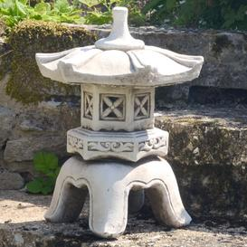 image-Pagoda Low Antique Stone Effect Statue Sol 72 Outdoor