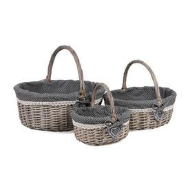 image-Wicker 3 Piece Basket Set August Grove