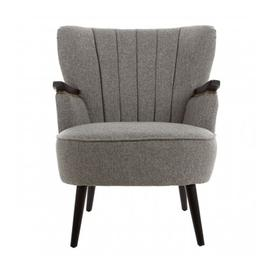 image-Hampro Fabric Upholstered Armchair In Grey