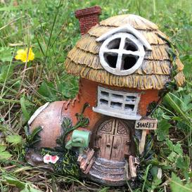 image-Mystical Cobblers Boot Fairy Garden House with LED Light Decoration Sol 72 Outdoor