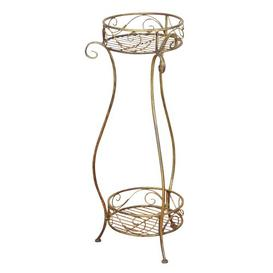 image-Ravenwood Plant Stand Lily Manor Colour: Antique gold