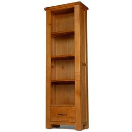image-Saltaire Oak Furniture CD/DVD Cabinet