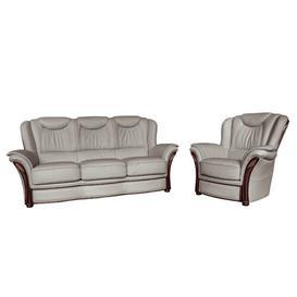 image-Higbee 2 Piece Leather Sofa Set Rosalind Wheeler Colour: Grey
