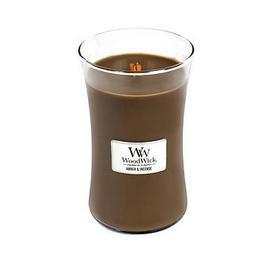 image-Woodwick Large Hourglass Candle &Ndash Amber &Amp Incense