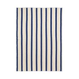 image-Rayures - Effet 3D Children blanket - / 120 x 160 cm by Ferm Living Blue,Yellow